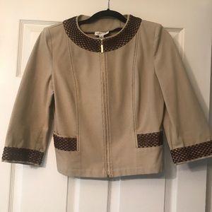 St John Sport Tan and Brown Jacket Size Small